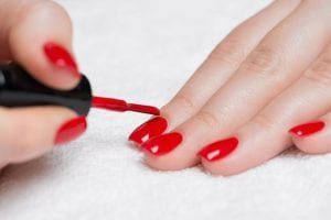 picture of nail paint being applied