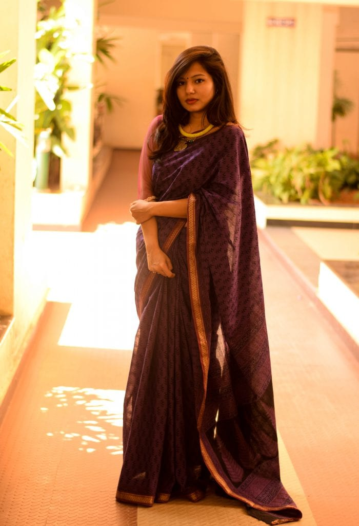 HANDBLOCK SAREE FROM UNNATI SILKS