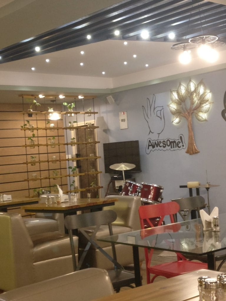 Picture of interiors and furniture of cafe fresska