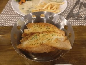 Picture of garlic bread in cafe fresska