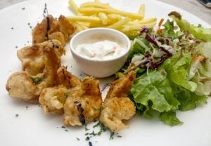 pictures of Herb infused prawns (battered fried)