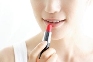 picture of lipstick being applied