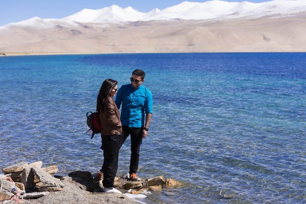 Picture of Boy & a girl in Tso Moriri Lake